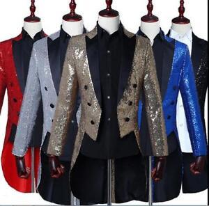 Formal Tuxedo Tail Coat Costume