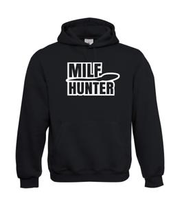 Milf-Hunter-I-Patter-I-Fun-I-Funny-to-5XL-I-Men-039-s-Hoodie
