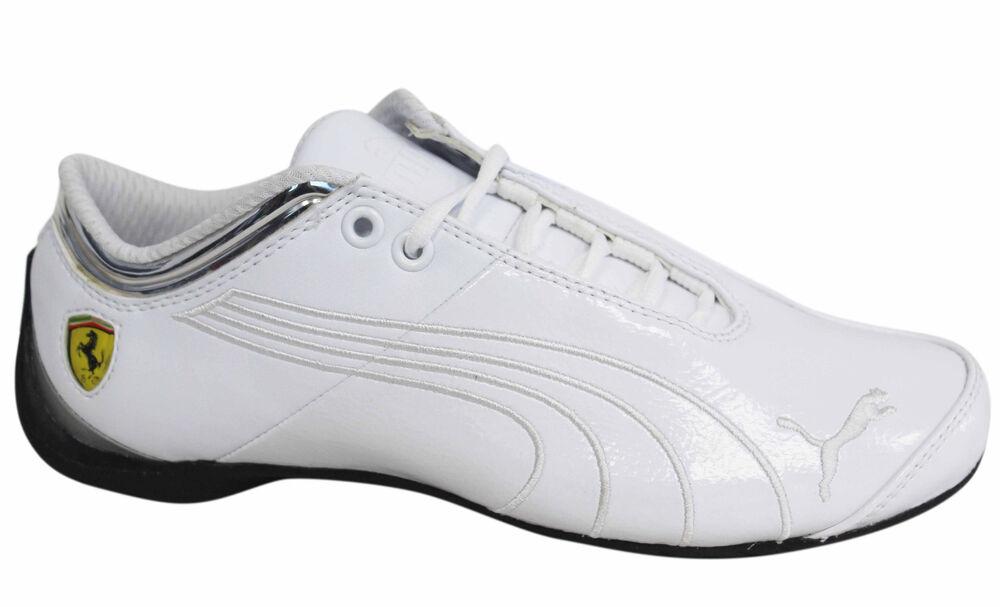 PUMA avenir chat SF FERRARI M1 à lacets homme Tennis en cuir blanc 303226 02 U96