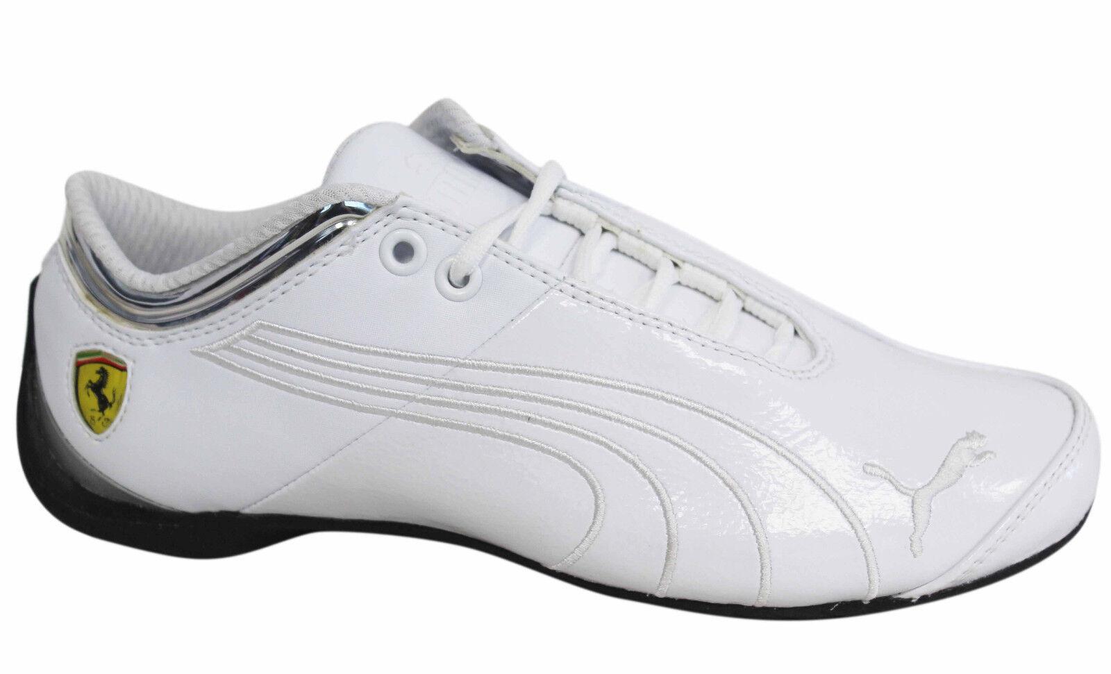 Puma Future Cat Up SF Ferrari M1 Lace Up Cat Mens White Leather Trainers 303226 02 U96 6a234a
