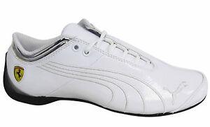 6988984b4894 Puma Future Cat SF Ferrari M1 Lace Up Mens White Leather Trainers ...