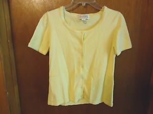 Womens-Girls-Annex-Casual-Corner-Size-M-Button-Down-Yellow-Top-034-BEAUTIFUL-TOP