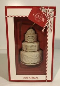 Lenox 2018 Our First Christmas Together Cake Ornament ...