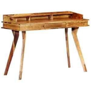 vidaXL-Solid-Sheesham-Wood-Writing-Desk-Vintage-Computer-Study-Reading-Table