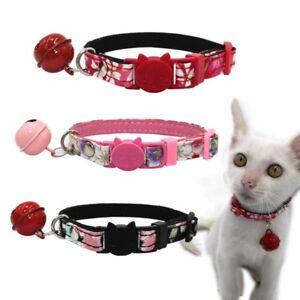 Pet-Kitten-Adjustable-Decorative-Collar-with-Bell-Puppy-Cat-Safe-Buckle-Necktie