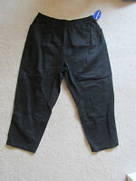 Women's cascade Blue Black Elastic Waist Khaki/chino Pants Size 24w Short