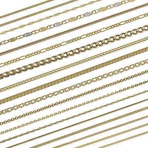 echte-333-585-750r-gelb-GOLD-KETTE-PANZERKETTE-SINGAPUR-FIGARO-Halskette-Collier