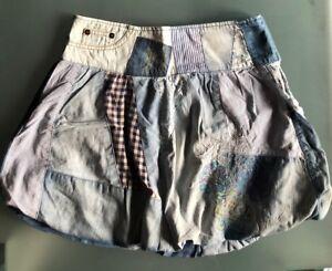 59460c7e95e554 Das Bild wird geladen Desigual-Rock-Jeans-Flicken-Gr-36