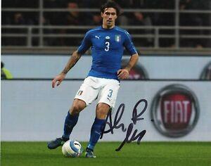 Foto-Autografo-Calcio-Alessio-Romagnoli-Asta-di-Beneficenza-Soccer-Sport-Signed