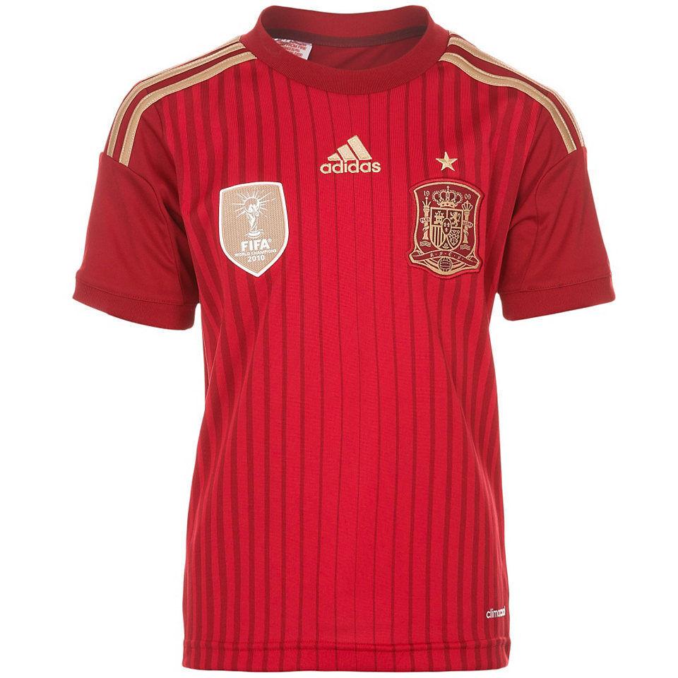 Adidas Spanien Trikot 2014 rot heim Spain kit rot home - Größe M - Espana maillot  | eine breite Palette von Produkten
