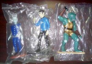 3-Star-Trek-4-034-PVC-Figures-Original-Series-Hamilton-1991-Gorn-Spock-Andorian-NM