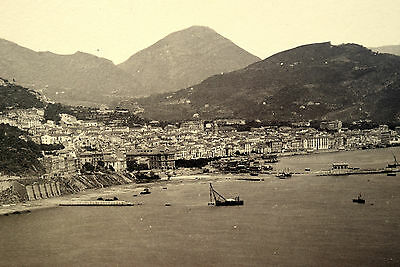 SALERNO PANORAMA Küste Strand Hafen Georgio SOMMER 1875 Albumin FOTO Original