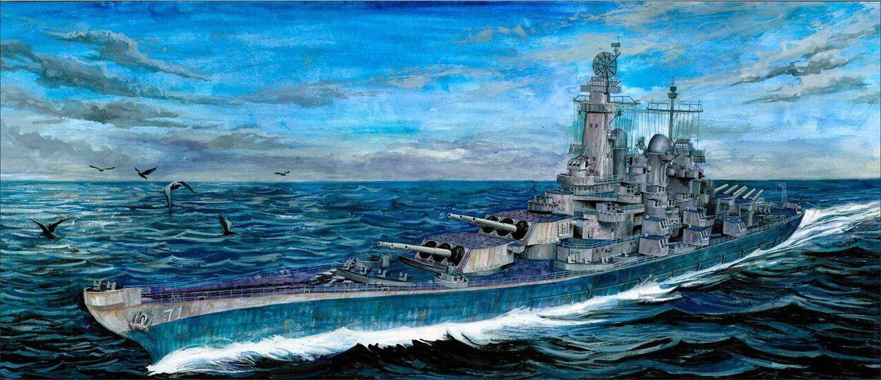 1 700 bluee Ridge Models USS Louisiana BB-71 Montana Class Battleship