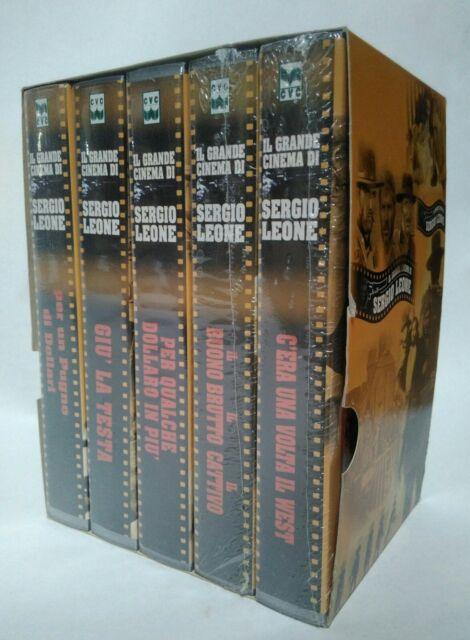 Western di Sergio Leone cofanetto VHS 5 cassette incellofanate