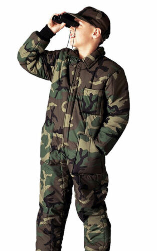 Kids Hunting Camping Insulated Coverall Woodland Camouflage 7013 Rothco