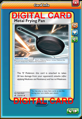 Metal Frying Pan 112//131 SM Forbidden Light TRAINER Pokemon Card NEAR MINT