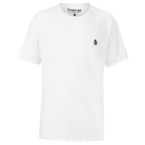 Firetrap T-shirt Herren Tshirt T Shirt Kurzarm Top Blackseal Xl Gnome 0045