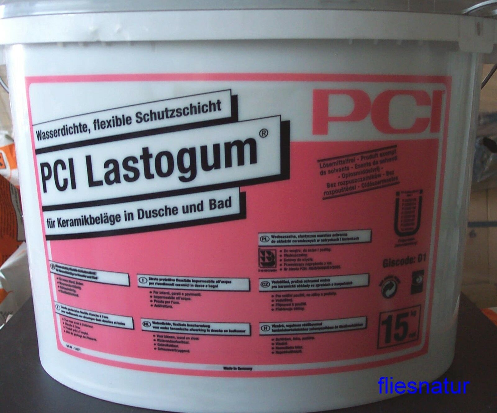 PCI Lastogum 15kg Dusche-Abdichtung Flüssigfolie Bad Sauna Wellness Schwimmbad