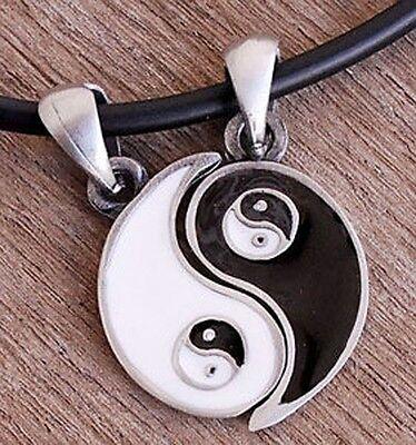 Split Best Friends Friendship LOVE Yin Yang Tao inside yin yang Pewter Pendant