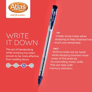 0.5mm Ballpoint pens CEYLON SRILANKA 12pcs Ballpoint Pen Atlas Blue X 12 PEN