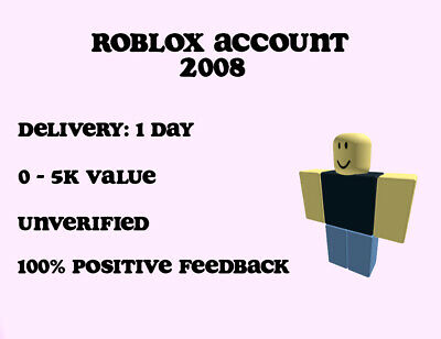 Roblox 2008 Accounts For Sale Antiguo Raro Al Azar 2008 Roblox Cuenta Sin Verificar Ebay