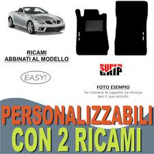 PER MERCEDES CLASSE SLK R171 TAPPETI AUTO MOQUETTE E FONDO GOMMA + 2 RICAMI EASY