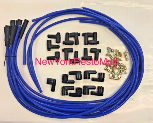 Spark Plug Wires Distributor HEI Chevy BBC SBC SBF 8.5 mm Blue Straight NEW