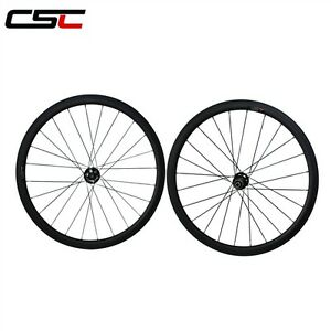 Disc brake Thru axle 15mm front 38mm Clincher carbon cyclocross bicycle wheels