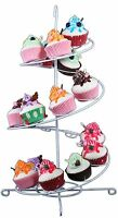 White Cupcake Spiral Stand Holder For Up To 18 Cupcakes 12 X 19 Inches