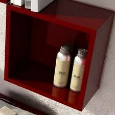 Pensile cubo in legno a giorno 34x34 colorato lucido opaco quadarato moderno | E