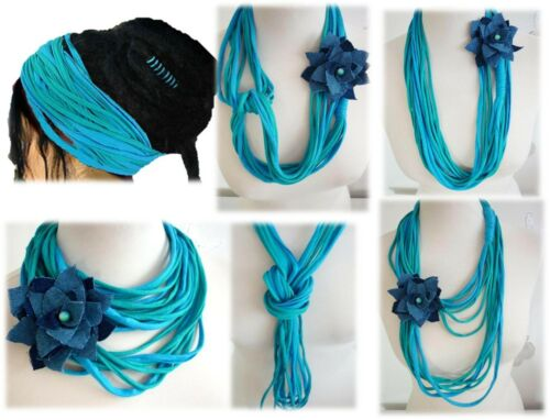 Scarf Necklace Cotton Necklace Infinity Fabric Necklace Jewelry Dreadlock Wrap