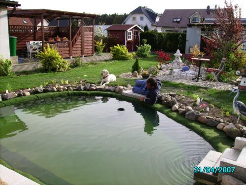 m²//4,99€ Bewuchsmatte Schutz für Teichfolie Teichrand Teichfolie Ufermatte
