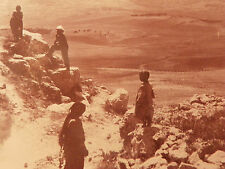 Ruins of the City Gate and Plains of Samaria Palestine Israel Bedouin child vtg