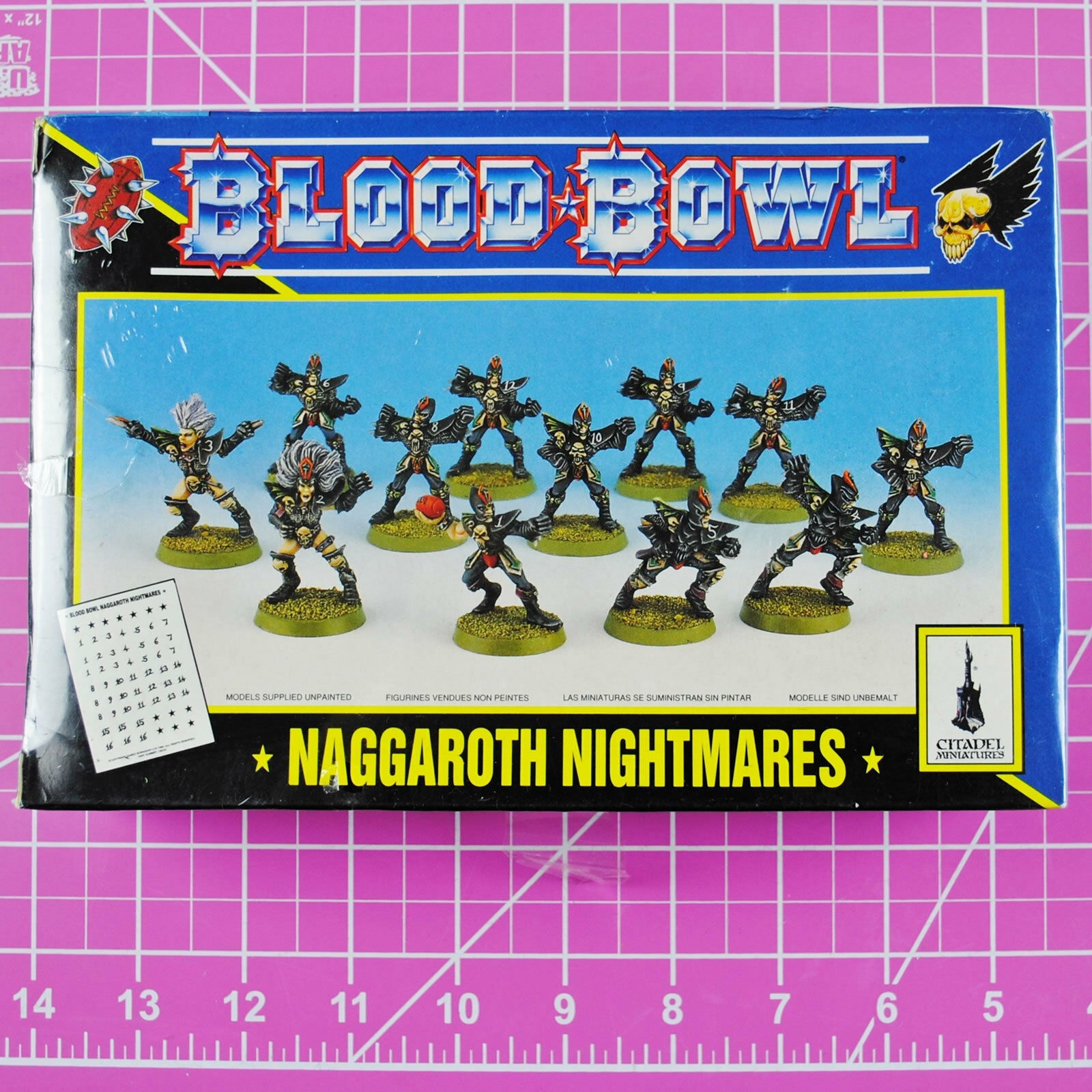 Classic Blood Bowl Naggaredh Nightmares Dark Elf Bloodbowl Team - Games Workshop