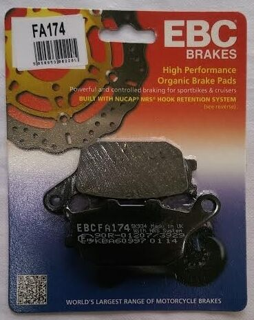 2015 to 2018 1 Set EBC Organic REAR Brake Pads FA174 Kawasaki EN650 Vulcan S