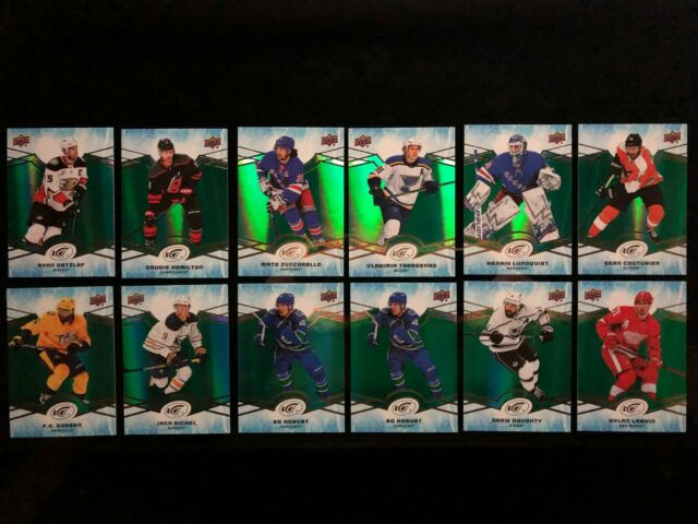 2018-19 Upper Deck Ice Green Parallel 12 Card Lot