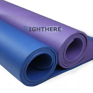 NEW-1CM-THICK-YOGA-MAT-PILATES-FITNESS-EXERCISE-GYM-10MM-THICKENED-BLUE-PURPLE