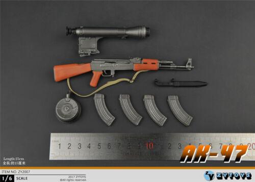 ZYTOYS 1//6 Scale ZY2007 Weapon Model AK47 Gun Figure Toy Gift F 12/'/' Doll