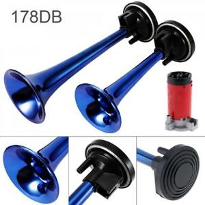 12V 178dB Super Loud Dual Tone Air Horn Set Trumpet Compressor for Car Truck