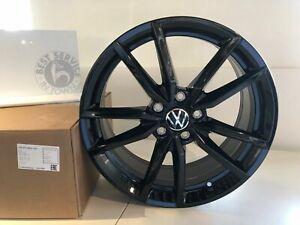Original-VW-metaux-legers-jante-034-Pretoria-034-18-in-Noir-Golf-Seat-Leon-Audi-a3