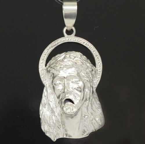 New Sterling Silver Jesus Christ Head Face Charm Pendant All Sizes