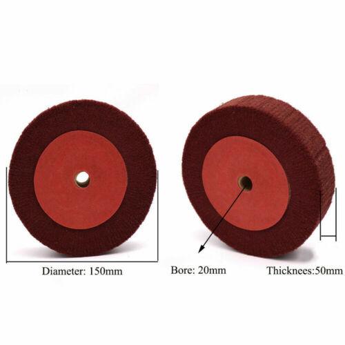 150//200mm Scotch Brite Finishing Wheel Cleaning Polishing Sanding Deburring Disc