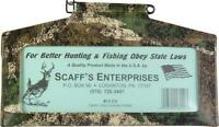 Hunting License Holder Scaff's 13 Cv 9.75 X 5.25 Camo Brand Usa Wisconsin