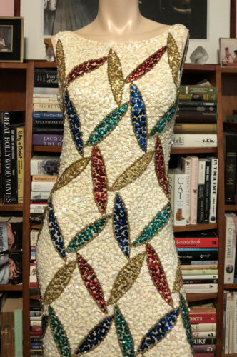 Vintage 1960s GENE SHELLY HONG KONG SEQUINED KNIT