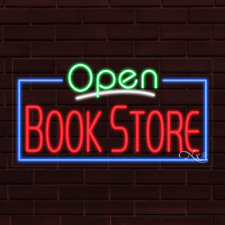 Brand New Open Book Store Withborder 37x20x1 Inch Led Flex Indoor Sign 35470