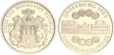 Bundesrepublik Hamburger Münze: Eröffnung 1982, Rs: Stempel 3 Mark Hamburg , St
