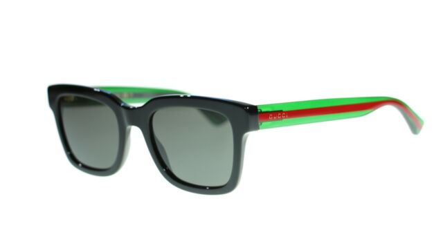 8d44aba76c70 Authentic Gucci Gg0003s 003 52-21-145 Havana/green Sunglasses With Grey  Lenses for sale online | eBay