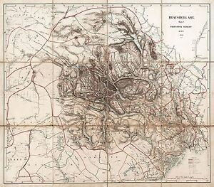 MAP-ANTIQUE-1846-MUNCH-TELEMARK-NORWAY-OLD-LARGE-REPLICA-POSTER-PRINT-PAM0305