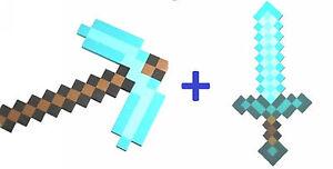 Minecraft Schwert Und Pickaxe Set Neu Ebay