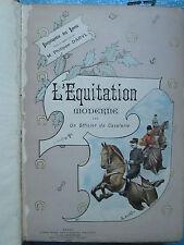 L'EQUITATION MODERNE par un officier de cavalerie, 1892.